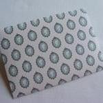 Handmade Envelopes in Turquoise wit..